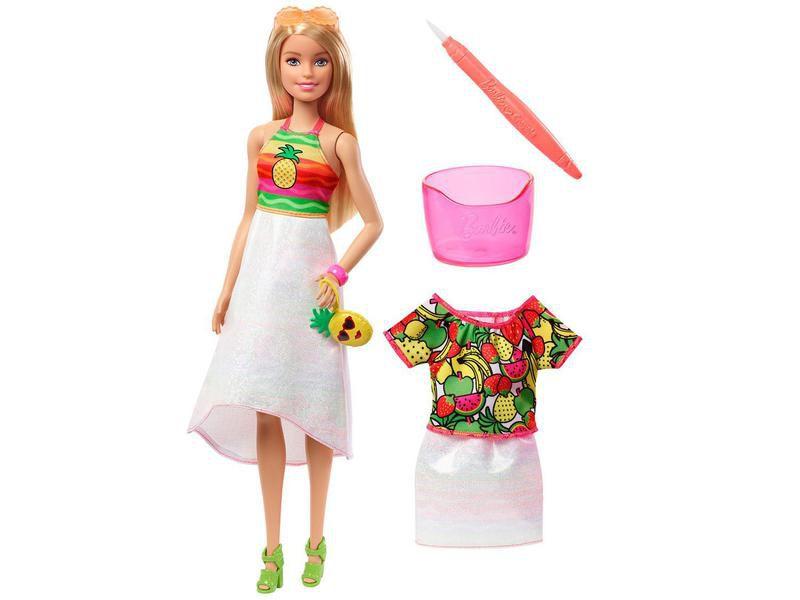 Boneca Barbie Crayola Surpresa De Frutas - Mattel