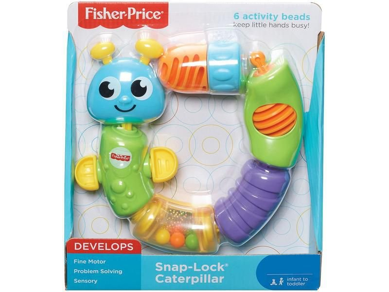 Centopeia de Atividades Snap-Lock Caterpillar - Fisher Price