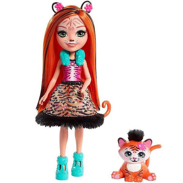 Boneca Enchantimals Bichinho Tanzie Tiger & Tuft - Mattel