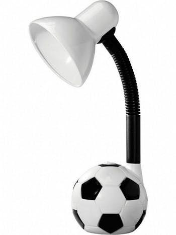 Luminária de Mesa Kids Bola de Futebol Branco e Preto