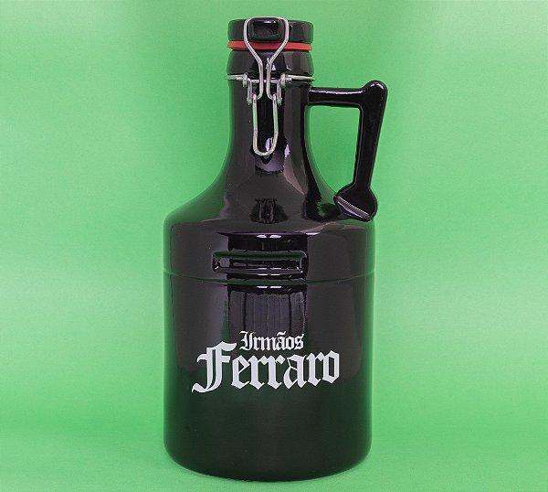Growler Cerâmica Preto Modelo A - 02 litros