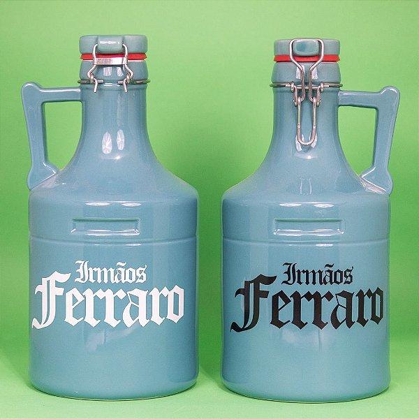 Growler Cerâmica Azul Celeste  -  02 litros (unidade)