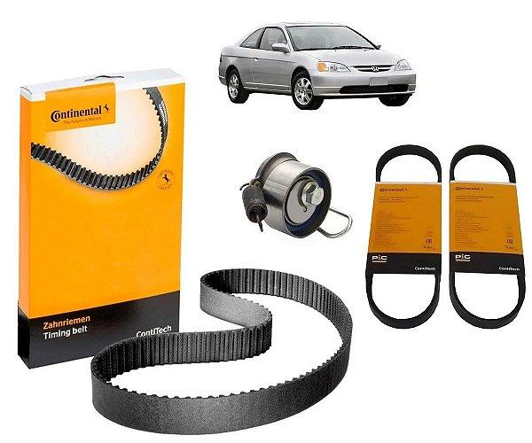 Kit Correia Dentada e Acessórios Honda Civic 1.7 16v 01 A 06