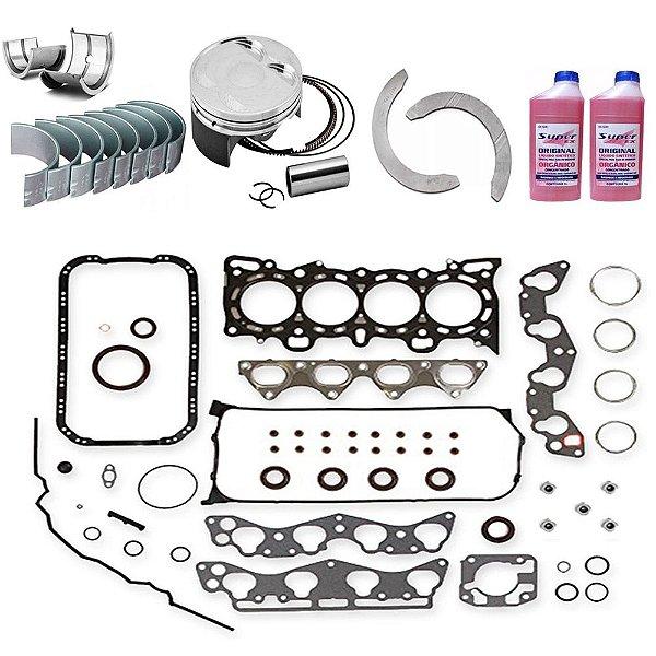 Kit Retifica Motor Peugeot 206 1.0 16v 2001 A 2007 7Lz Plz
