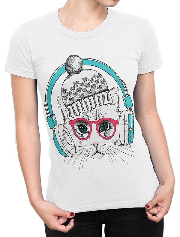 Camiseta Feminina - Gato - Wolf Blender - Moda Feminina e Masculina 785cbd44854
