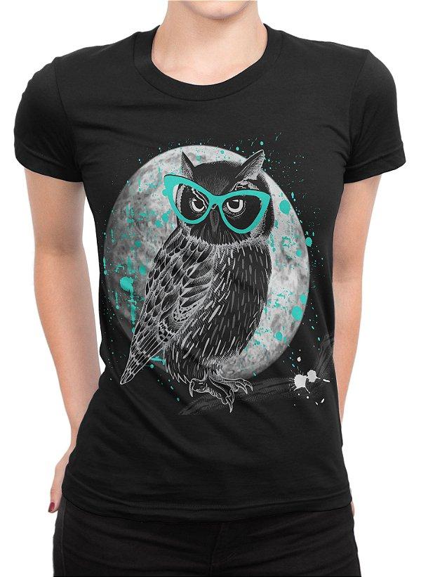 Camiseta Feminina Coruja - Wolf Blender - Moda Feminina e Masculina 9a16284c6b8