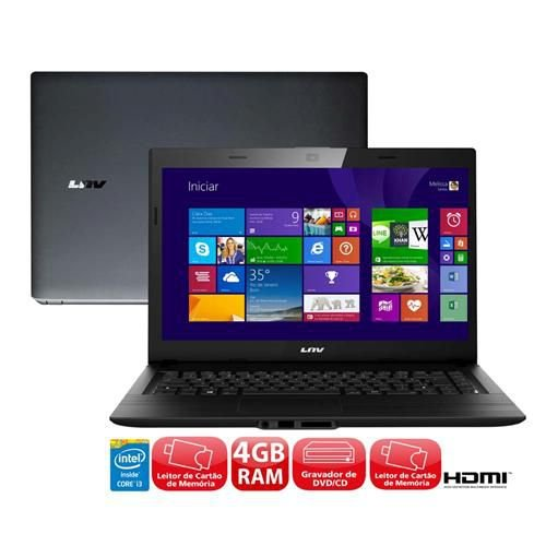 NOTEBOOK LENOVO INTEL CORE I3 4005-U 1.70GHZ 320GB 4GB, LEITOR DVD 3 USB HDMI WIN 10 *7838*