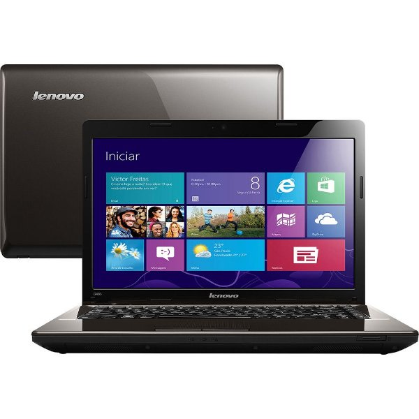 Notebook Lenovo G485 AMD C-60 1ghz, HD 160gb, 4GB, Microsoft Windows 7, Wifi, 3 USB, HDMI. Aceitamos notebooks usados *9100*