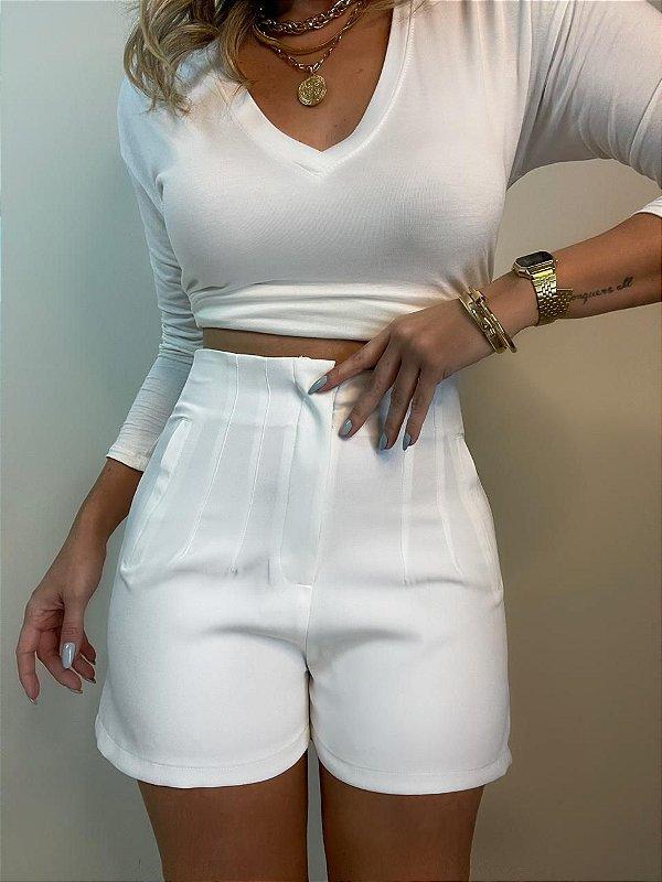 Shorts Alfaiataria Branco