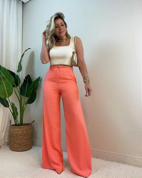 Calça Pantalona Coral