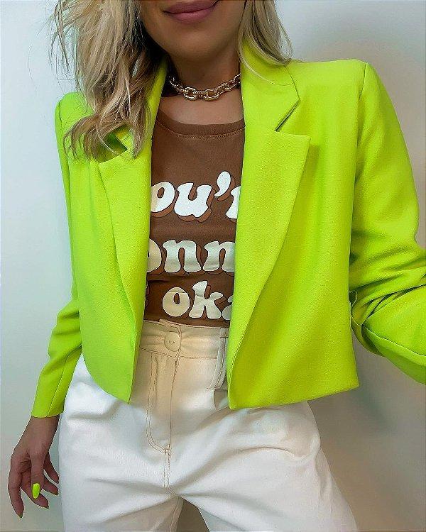 Blazer Cropped Verde Lima