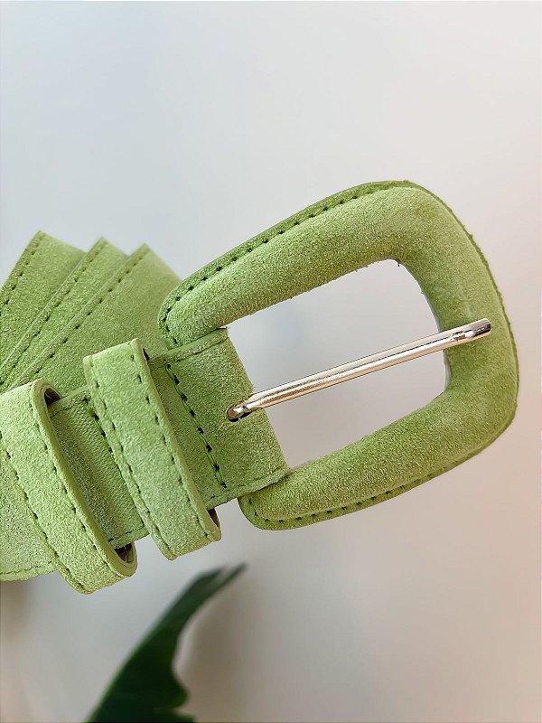 Cinto Couro Camurça Verde