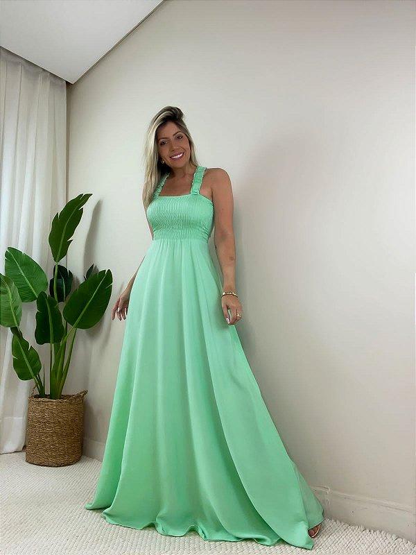 Vestido Longo Maldivas Verde