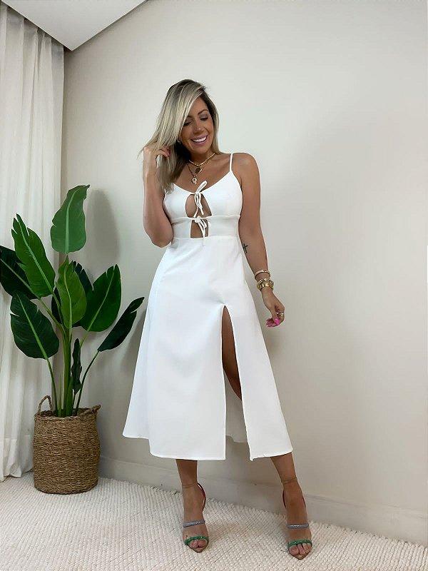 Vestido Itália Midi Branco