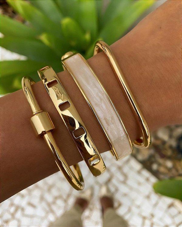 Mix Braceletes Dourado