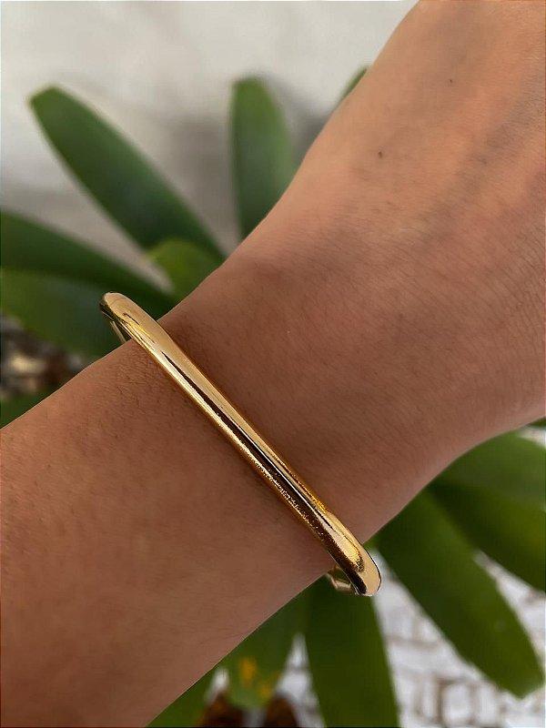 Bracelete Quadrado Dourado