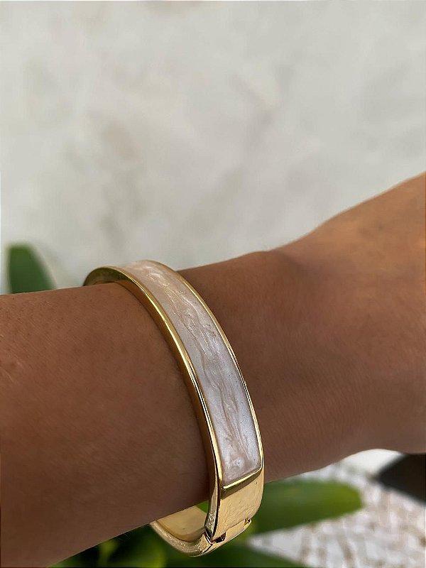 Bracelete Esmaltado Dourado
