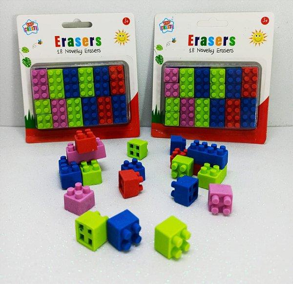 BORRACHA LEGO - 2 UNIDADES