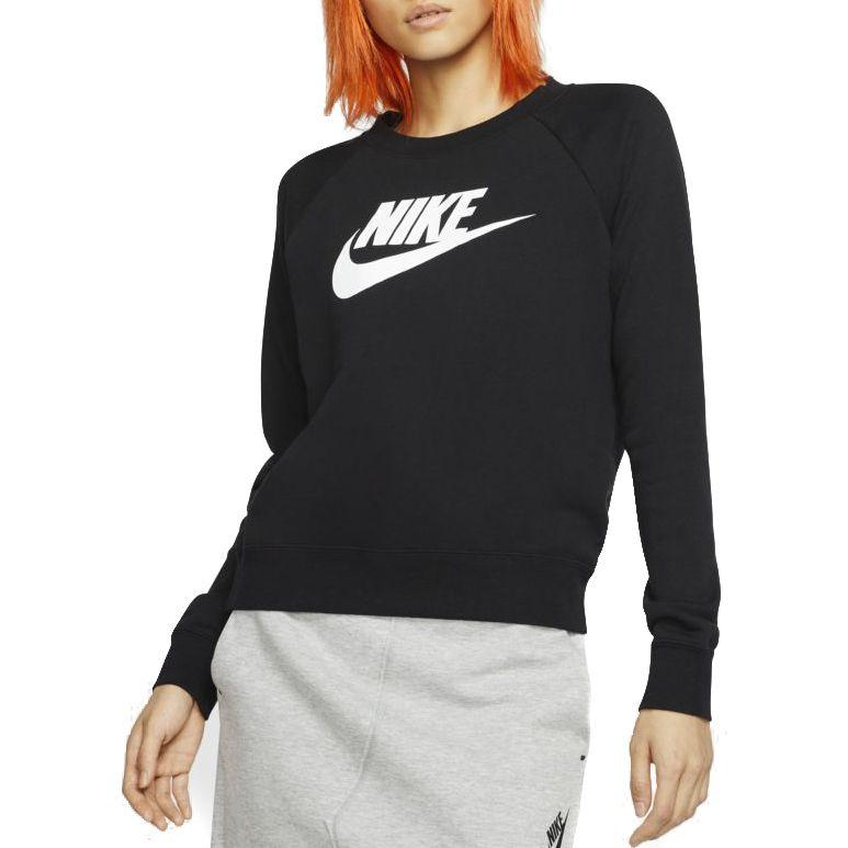 Camisa Nike Sportswear Essential Fleece Feminina Preta