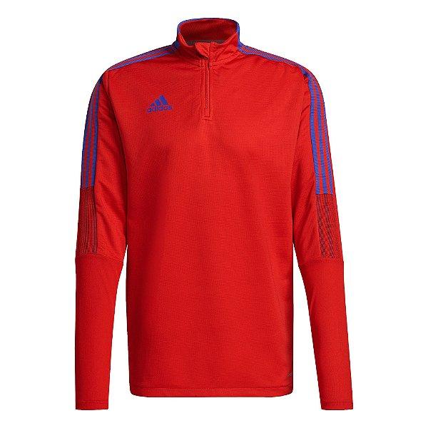 Camisa Adidas Treino Tiro Primeblue Masculino Vermelho