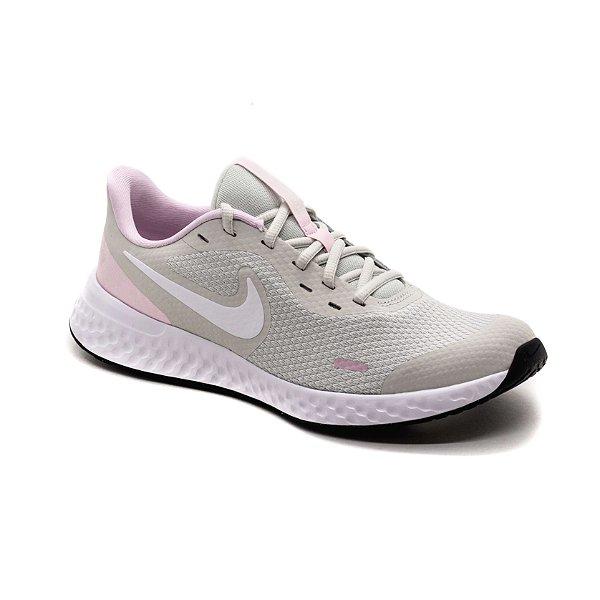 Tênis Esportivo Nike Revolution 5 Infantil Unissex Cinza