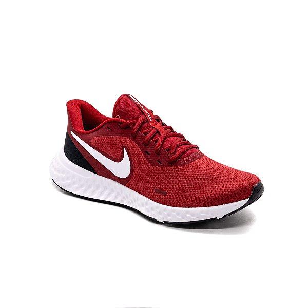 Tênis Esportivo Nike Revolution 5 Masculino Vermelho