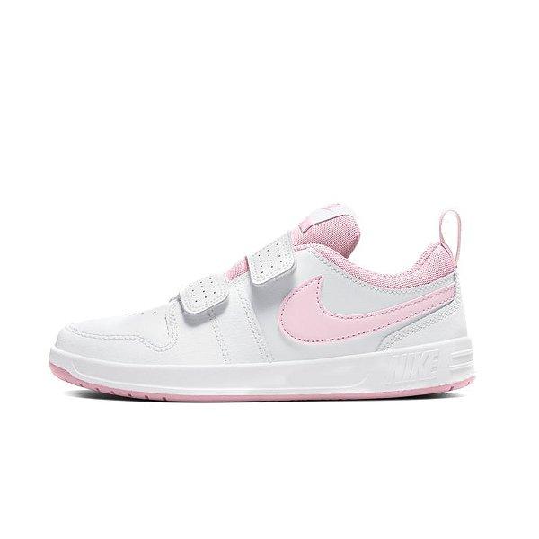Tênis Esportivo Nike Pico 5 Infantil Unissex Branco e Rosa