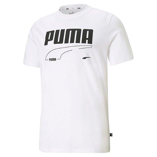 Camisa Algodão Puma Rebel Masculina Branca