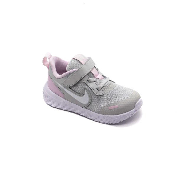 Tênis Esporte Nike Infantil Unissex Cinza e Rosa