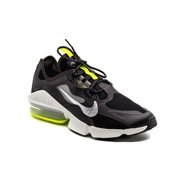 Tênis Esportivo Nike Air Max Infinity 2 Masculino Preto e Verde