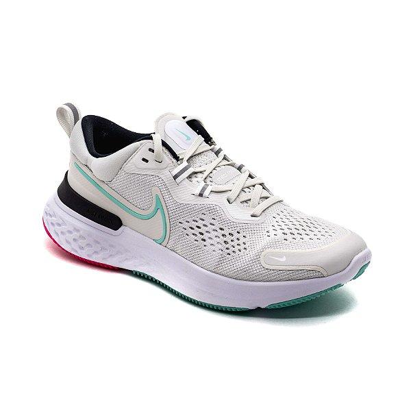 Tênis Esportivo Nike React Miler 2 Masculino Branco