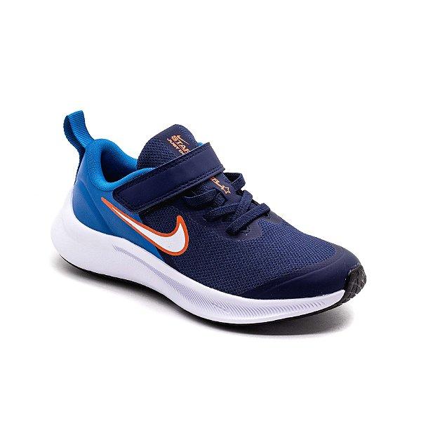 Tênis Esportivo Nike Star Runner 3 Infantil Unissex Azul