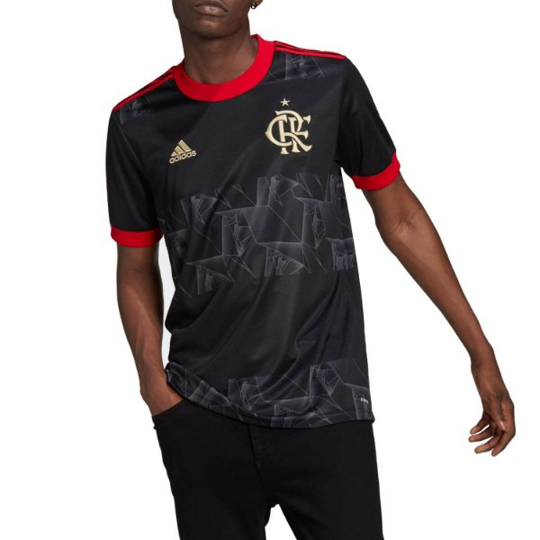 Camisa Adidas Flamengo 3 21 Masculina Preta