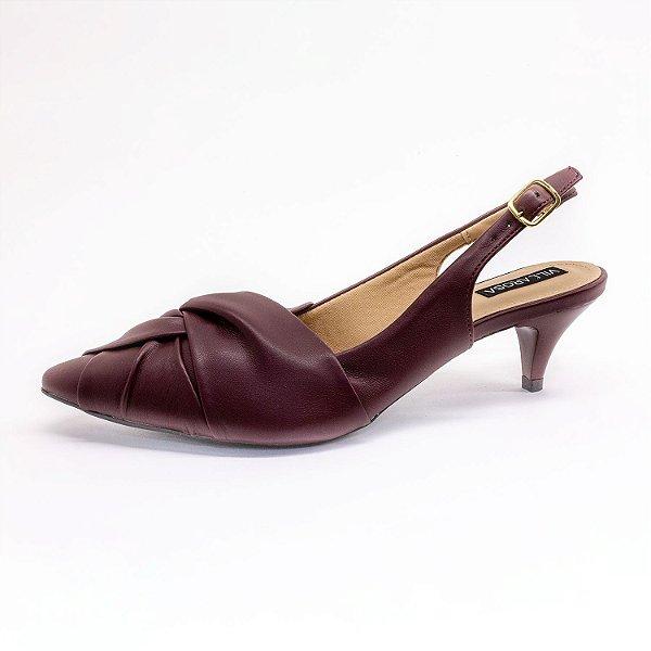 Sapato Chanel Villarosa Feminino Vinho
