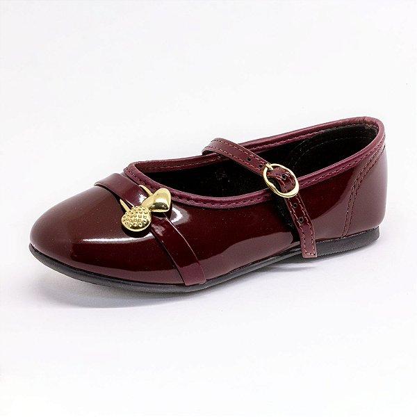 Sapato Infantil Molekinha Feminino Vinho