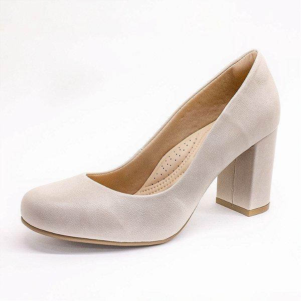 Sapato Salto Lumman Feminino Off White