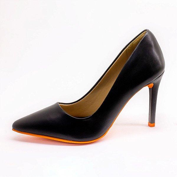 Sapato Scarpin Lumman Feminino Preto Verniz