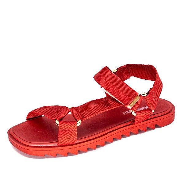 Sandália Plataforma Moleca Feminina Vermelho