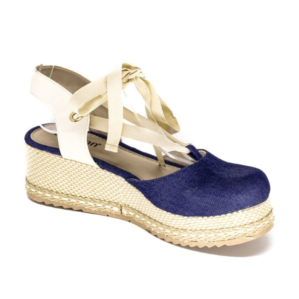 Sandália Plataforma Lumman Feminina Jeans