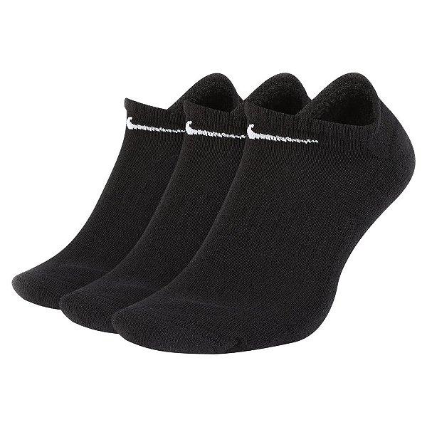 Meia Nike Everyday Cushion Unissex Preta (Kit 3 pares)