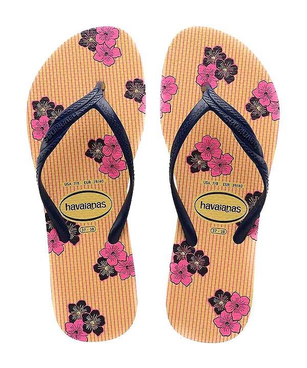 Chinelo Havaianas Fantasia Romantica Feminina Amarelo Limão