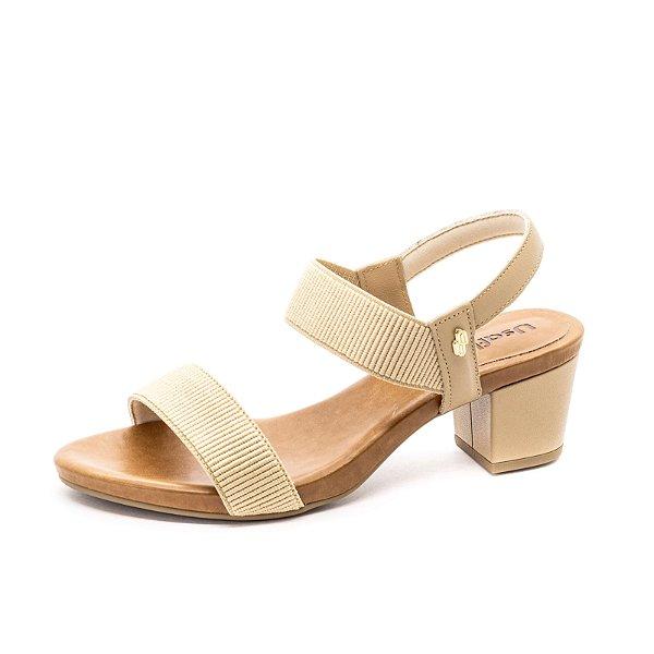 Sandália Salto Grosso Usaflex Feminina Blush