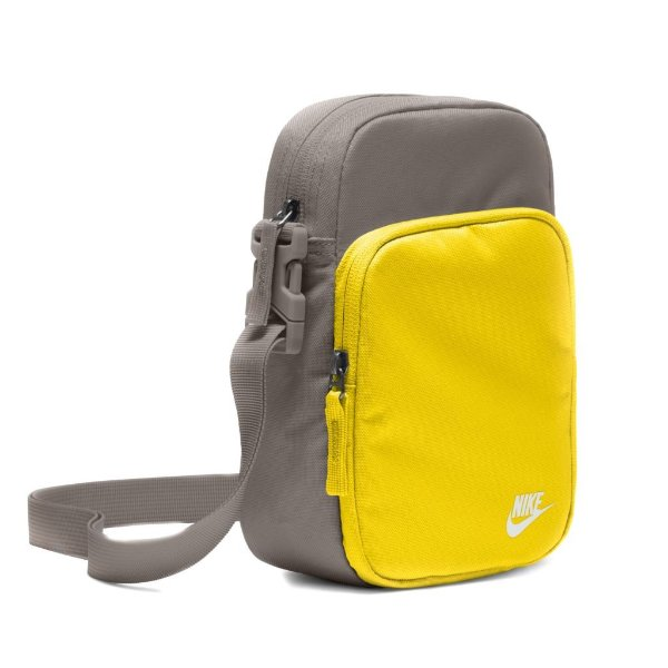 Bolsa Esportiva Nike Heritage Unissex Cinza e Amarelo