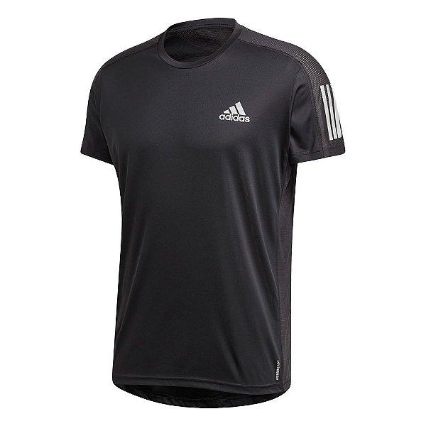 Camisa Adidas Own The Run Masculina Preta