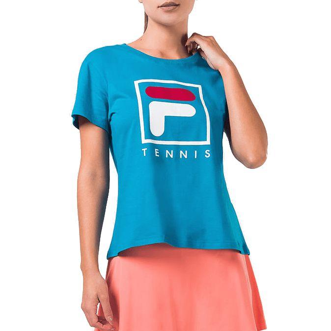 Camisa Fila Soft Urban Feminina Azul Petróleo
