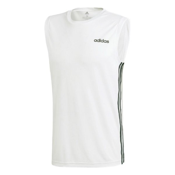 Camisa Adidas Design 2 Move 3-Stripes Masculina Branca
