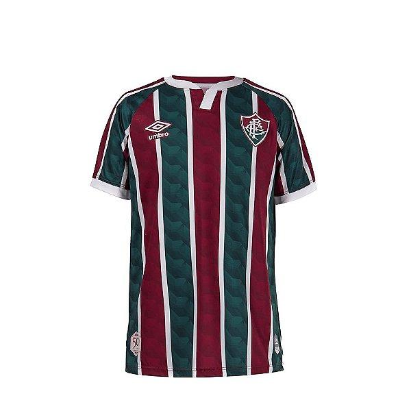 Camisa Oficial Umbro Fluminense Juvenil Masculina Verde e Grená