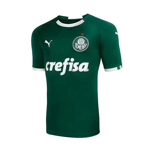 Camisa Oficial Puma Palmeiras 19/20 Torcedor Masculina Verde