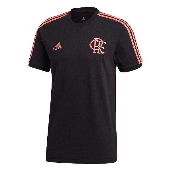 Camisa Adidas CR Flamengo 3-Stripes Masculino Preta