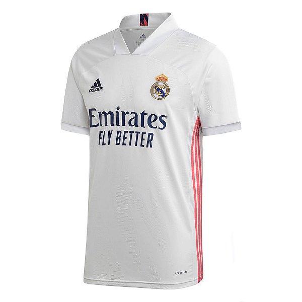 Camisa Oficial Adidas Real Madrid 20/21 Masculina Branca